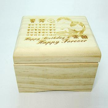 原木雷射雕刻-音樂盒